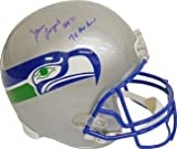 Steve Largent Autographed/Hand Signed Seattle Seahawks Full Size TB Replica Helmet HOF 95 &amp; 7 X Pro at Amazon.com