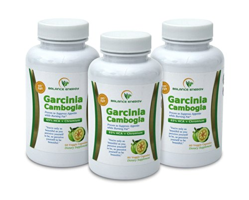 Garcinia Cambogia Extract, 100% Pure, Non-Gmo, 65% Hca, Potent And Effective Formula That Creates Natural Weight Loss And Appetite Suppressant As Advertised By Dr. Oz. Look Good, Feel Good, Be Healthy, Money Back Guaranteed