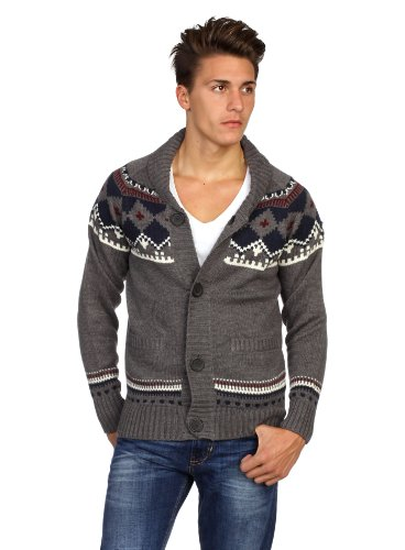 Red Wolf Men Sweater Ribbony