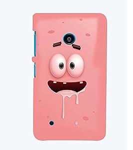 Printvisa Animated Pink Cartoon Back Case Cover for Nokia Lumia 530::Microsoft Lumia 530