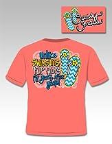 Chevron Flip Flops - Ladies X-Large - T-Shirt