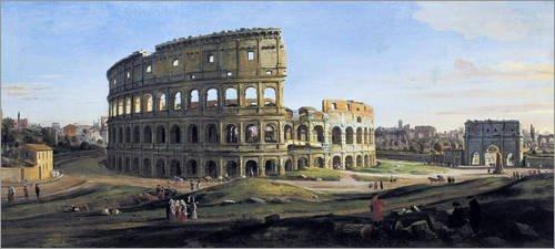 Alu Dibond 110 x 50 cm: Kolosseum mit Konstantinsbogen von Everett Collection