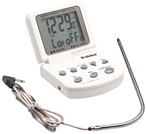Polder Cooking Thermometer with Timer and Clock