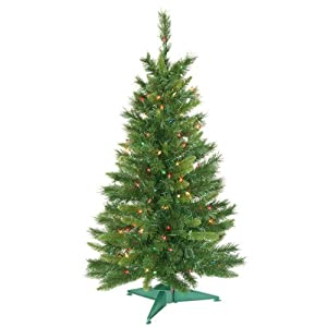 #!Cheap 3.5' Pre-Lit Imperial Pine Artificial Christmas Tree - Multi Dura Lights