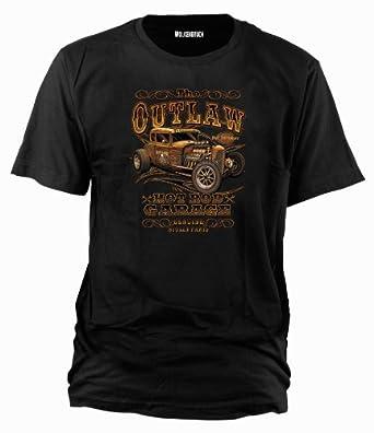 T-Shirt Hot Rod Outlaw, Gr.3XL