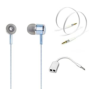 TrendyIndia Combo Accessory Perfumed Handsfree With Handsfree Splitter, Aux Cable For Samsung Galaxy Grand Prime