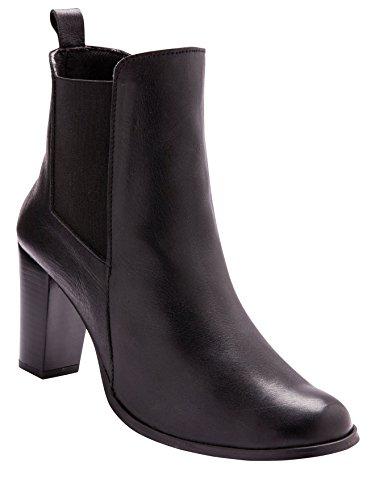 Balsamik - Stivaletti pelle con tacco alto, larghezza comfort - - Size : 39 - Colour : Nero
