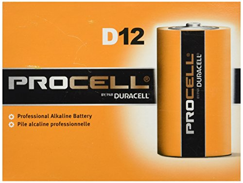 Procell Alkaline Batteries, D, 12/Pack