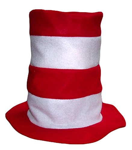 Red and White stripes Felt Hat Child Kids size