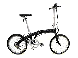 Dahon Mu P8 Folding Bike (20-Inch Wheel, Obsidian) by Dahon