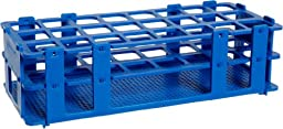 Bel-Art F18747-0003 No-Wire Test Tube Rack; 20-25mm, 24 Places, 9.7 x 4.1 x 2.5\