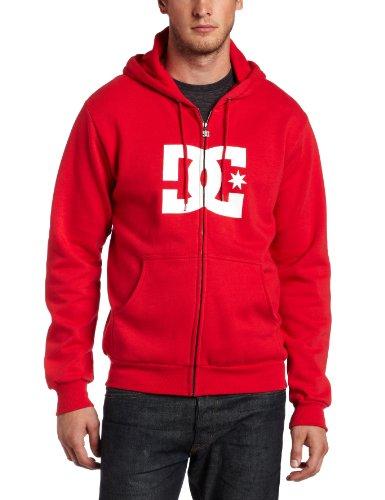 DC Men's Star Zip Hoody, Primary Red, Medium