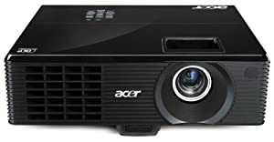 Acer X1311KW DLP Projektor (Kontrast 10000:1, 2500 ANSI Lumen, WXGA 1280 x 800 Pixel, EU/UK) schwarz