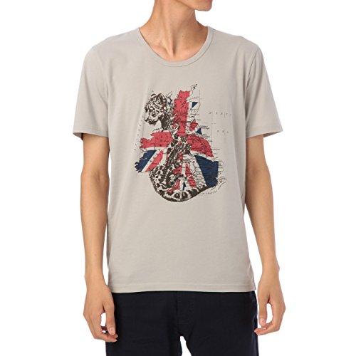 (ボイコット)BOYCOTT チーター&ユニオンジャックTシャツ グレー系(112) 02(M)