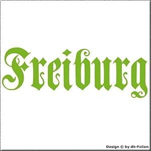 cartattoo4you AK-01584 | FREIBURG - Fraktur / Altdeutsche Schrift | Autoaufkleber Aufkleber FARBE apfelgrün , in 23 weiteren Farben erhältlich , glänzend 17 x 5 cm in PREMIUM - Qualität Waschstrassenfest VERSANDKOSTENFREI