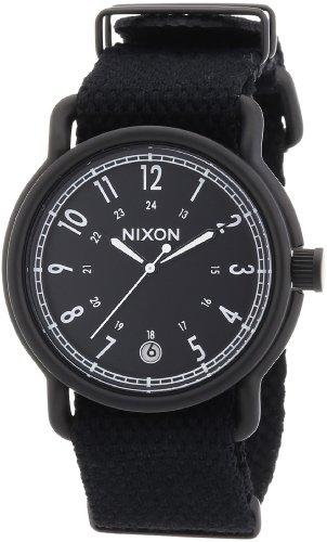 Nixon The Axe All Black Nylon, Orologio da polso Uomo