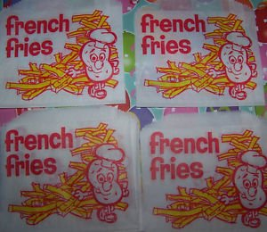 50 Retro FRENCH FRY Paper Bags. Party Concession Wedding Sports Games Halloween (Toddler French Fries Costume compare prices)