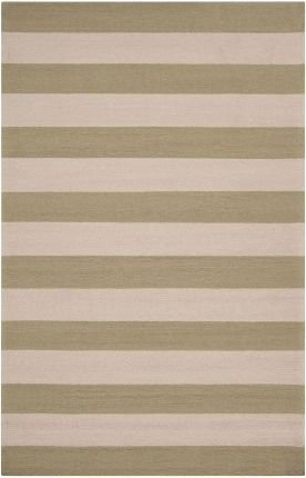 5' x 8' Rectangular Surya Area Rug RAI1080-58 Sage Green Color Hand Hooked - Synthetic in China