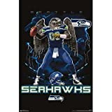 (22x34) Seattle Seahawks Quarterback Mascot Football Poster at Amazon.com