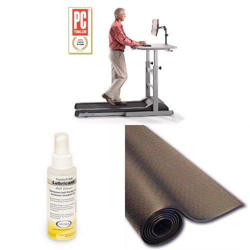 LifeSpan TR1200-DT Treadmill Desk with Lubricant and Mat Bundle