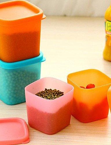 MEICHEN multifonction récipient en plastique de stockage boîte d'étanchéité alimentaire avec couvercle de couleur aléatoire