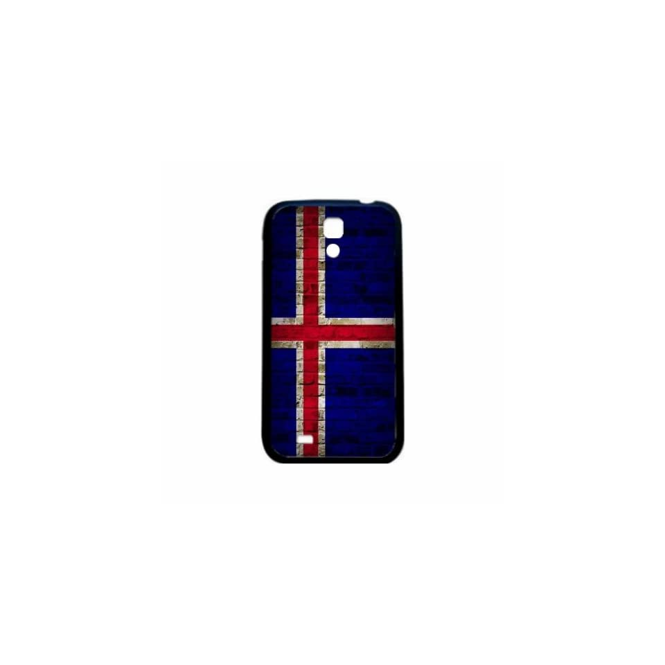 Iceland Brick Wall Flag Samsung Galaxy S4 Black Silcone Case   Provides Great Protection