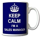 Keep Calm I'm A Sales Manager Mug Cup Gift Retro