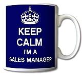 Keep Calm I'm A Sales Manager Mug Cup Gift Retro