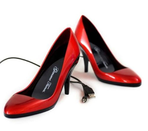 (Red) Stiletto Speaker Shoes - Gimme Tunes front-294743