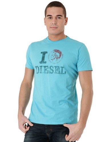 Diesel T-ilove-r 88x Straight Blue Man T-shirts Make Men - M