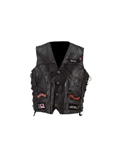 Eagle Live to Ride Patches Buffalo Leather Biker Vest