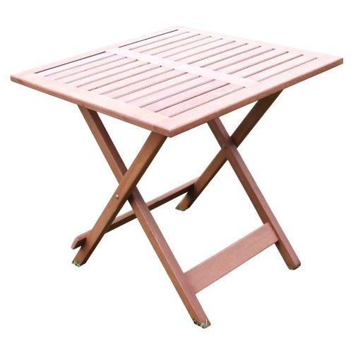 Beistelltisch 46x46x47cm Akazienholz Klapptisch Gartentisch Gartenmöbel Tisch