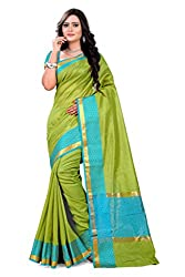 Amigos Fashion Women's Tassar Silk Saree (AF-11)