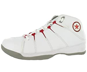 Converse Men's For Three Mid Basketball Shoe Red, Gray, White (13)