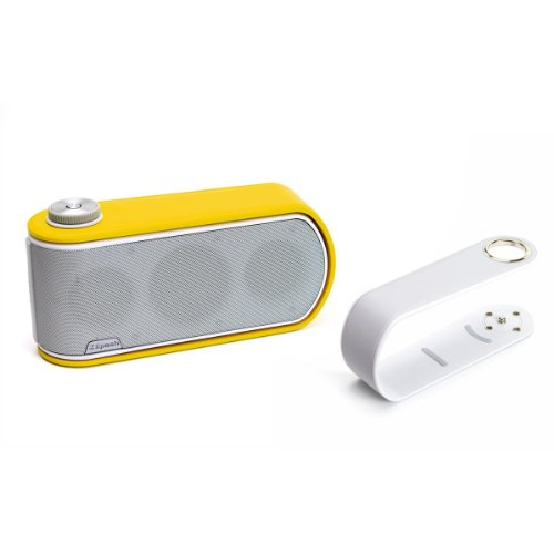 Klipsch Gig Portable Wireless Music System With Aptx Bluetooth And Additional Color Band (White Speaker With White And Yellow Color Bands)