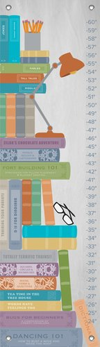 "Oopsy Daisy Growth Chart, Stack of Books, 12"" x 42"""