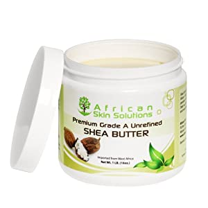 100% Pure Raw Unrefined Shea Butter - Certified Premium Grade A SheaButter by African Skin Solutions™- 60 Day Guarantee! All Natural Rich Restorative Ivory Skincare Cream & Lotion Best for Dry Itchy Skin, Hair Conditioner, Face, Foot, Hand, Lips & Scalp Moisturizer, Anti Aging, Facial, Shaving, Beauty, Body Care, Wrinkles, Acne, Pregnancy Stretch Marks, Psoriasis, Eczema, Dermatitis, Insect Bites, Sunburn & Much More. Product is Oil Extract from Karité Tree Nut in West Africa - 16 oz.