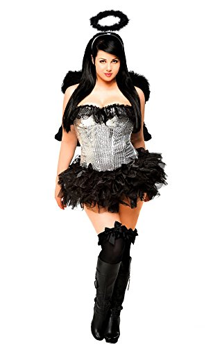 [1910 - 4 PC Sequin Dark Angel Costume, Large] (1910 Costumes)