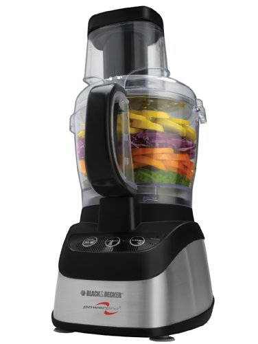 Black & Decker FP2620S Power Pro Wide-Mouth 10-Cup Food Processor with 5-Cup Blender Jar