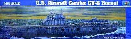 Carrier-trumpeter 5601 aircraft u.s.s. hornet-cV 8
