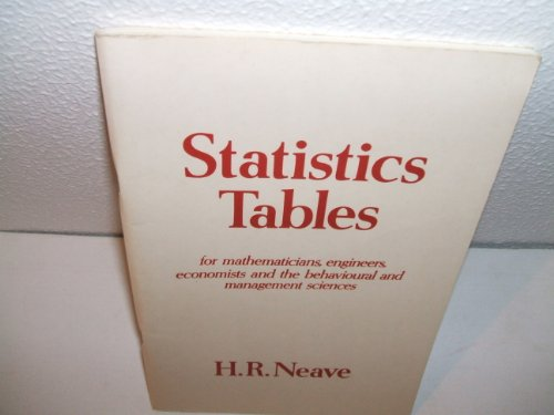 Image for Statistics Tables