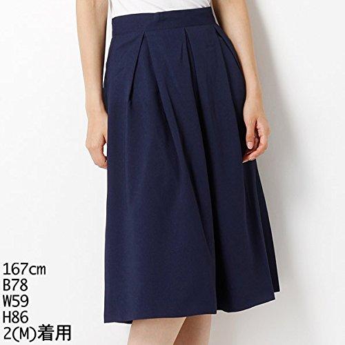 ムルーア(MURUA) スカート(タックフレアスカート)【M58ネイビー/M】