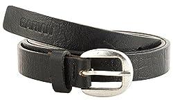 Garvan Women's Black Leather Belt (LBW 8-Black, Size : 30)