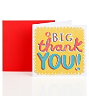 Big Yellow Thank You Greetings Card