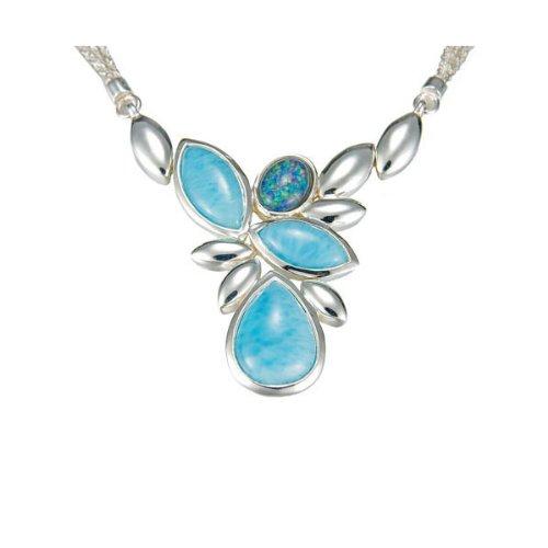 MarahLago - Larimar & Australian Opal Arbol Necklace