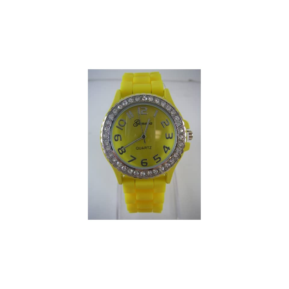 Band   Womens Fashion Watch with Rhinestone Bezel Toys & Games