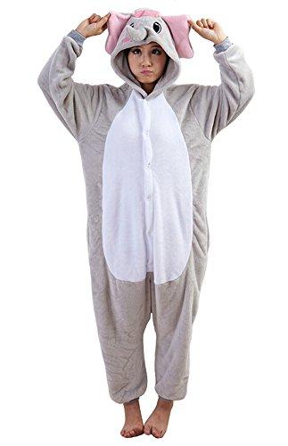 Tonwhar Elephant Sleepsuit Pajamas Costume Cosplay Homewear Lounge Wear (L(Height:170Cm/5.57'-180Cm/5.9'), Gray) front-355466