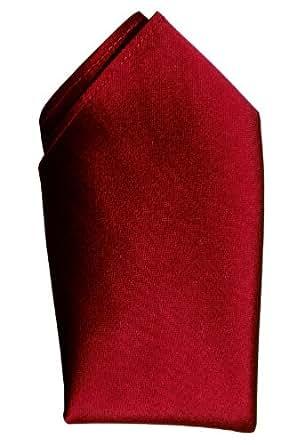 "Crimson Dupioni Silk Pocket Square - Full-Sized 16"" x 16"""