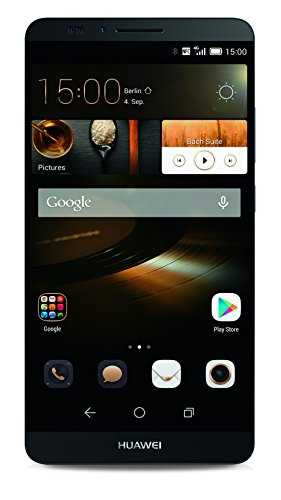 Huawei Ascend Mate 7 Smartphone, Display IPS 6 pollici, Processore 1,8 GHz Octa-Core, Memoria 16GB, 2GB RAM, Singola SIM, Fotocamera 13 MP, Android 4.4 KitKat, Grigio