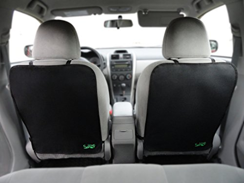 Backseat Kick Mat (2 Pack) by Swiftleaf - Universal Fit - Premium Seat Protection - Guards Against Dirty Baby & Kids Shoes